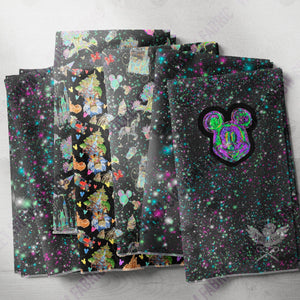 Limited Pre Order - Holographic Ears Glitter - Panel PRE ORDER PANEL Violet Snow Custom Fabric
