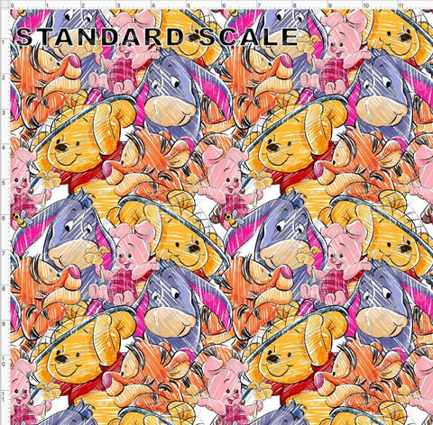 POD- Silly Old Bear PRE ORDER YARD Violet Snow Custom Fabric Cotton Lycra 240gsm Standard