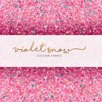 Pre-Order Be Mine, Ombré Pink Glitter Coordinate PRE ORDER YARD Violet Snow Custom Fabric
