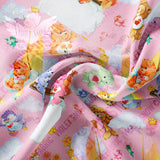 Pre Order - Bears Sailing on Pink Skies PRE ORDER YARD Violet Snow Custom Fabric
