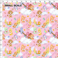 Pre Order - Bears Sailing on Pink Skies PRE ORDER YARD Violet Snow Custom Fabric Cotton Spandex 240 GSM Small