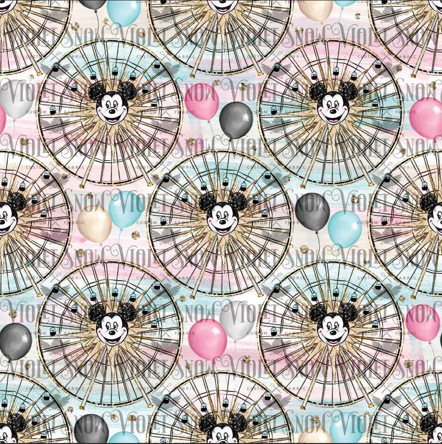 Pre Order - California Ferris Wheel PRE ORDER YARD Violet Snow Custom Fabric