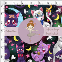 Pre Order - Cat Galaxy - by Angry Ballerina PRE ORDER YARD Violet Snow Custom Fabric