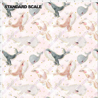 Pre Order - Deep Sea Dance Party PRE ORDER YARD Violet Snow Custom Fabric Cotton Spandex 240 GSM Standard