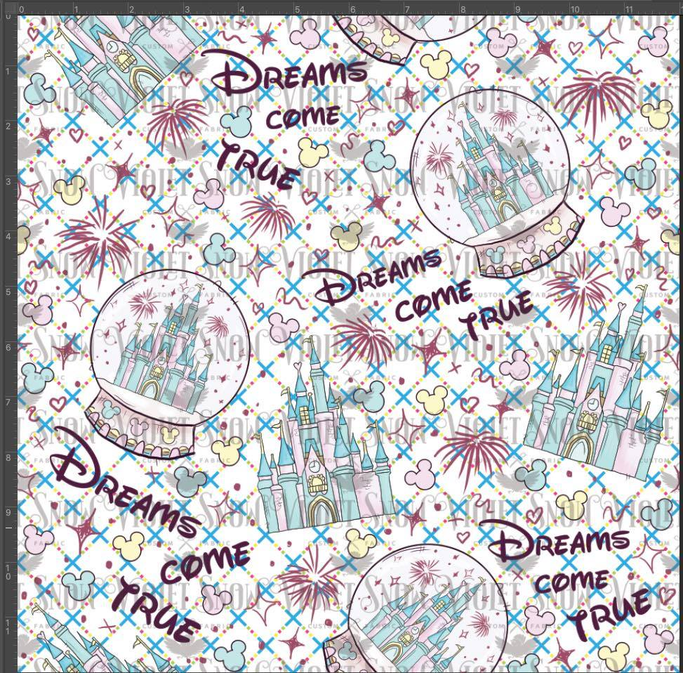 Pre Order - Dreams Come True PRE ORDER YARD Violet Snow Custom Fabric