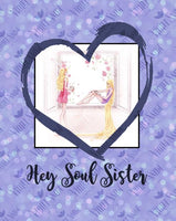 violet-snow-custom-fabric,Pre Order - Hey Soul Sister - Blanket Topper,Violet Snow Custom Fabric,PRE ORDER TOPPER.