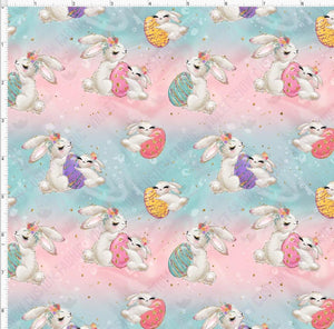 Pre Order - Mama and Baby Bunnies PRE ORDER YARD Violet Snow Custom Fabric