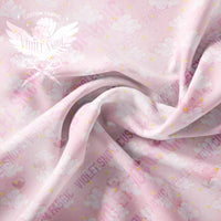 Pre Order -Pink Skies Clouds and Gems Coord PRE ORDER YARD Violet Snow Custom Fabric