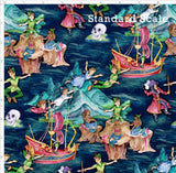 Pre Order R47 - Adventures in Neverland PRE ORDER YARD Violet Snow Custom Fabric Cotton Lycra 180 GSM Standard