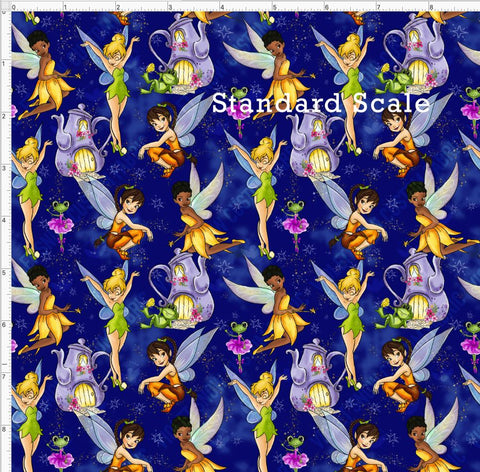 Pre Order R47 - Neverland Fairies Blue Dust PRE ORDER YARD Violet Snow Custom Fabric