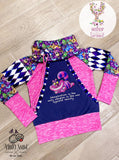 Pre Order R61: Robot Squad on Purple PRE ORDER YARD Violet Snow Custom Fabric