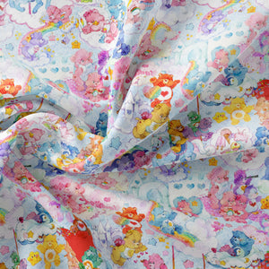 Pre Order - Scattered Bears PRE ORDER YARD Violet Snow Custom Fabric