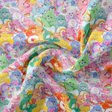 Pre Order -Stacked Bears PRE ORDER YARD Violet Snow Custom Fabric