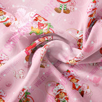 Pre Order - Strawberry on Pink PRE ORDER YARD Violet Snow Custom Fabric