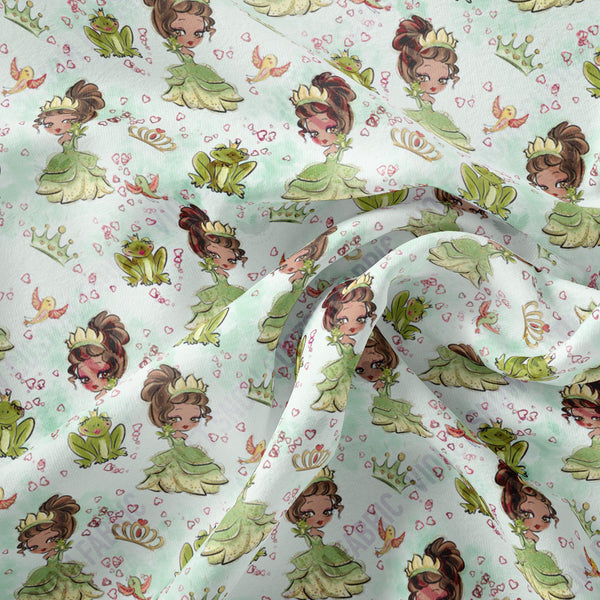 Pre Order - The frog princess PRE ORDER YARD Violet Snow Custom Fabric