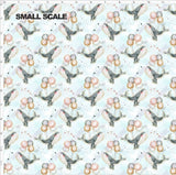 Pre Order - The Great Escape PRE ORDER YARD Violet Snow Custom Fabric Cotton Spandex 240 GSM Small