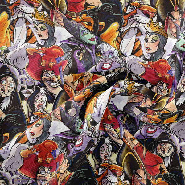 Pre Order -Villains Sketch Stacked PRE ORDER YARD Violet Snow Custom Fabric