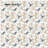 Pre Order - Whales of Whimsy PRE ORDER YARD Violet Snow Custom Fabric Cotton Spandex 240 GSM Small