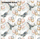 Pre Order - Whales of Whimsy PRE ORDER YARD Violet Snow Custom Fabric Cotton Spandex 240 GSM Standard