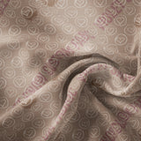 Pre Order - White Circled Hearts on Tan PRE ORDER YARD Violet Snow Custom Fabric