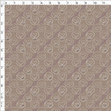 Pre Order - White Circled Hearts on Tan PRE ORDER YARD Violet Snow Custom Fabric Cotton Spandex 240 GSM Standard
