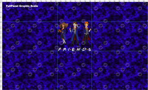 Pre Order - Wizard Friends on Blue Grunge - Panel PRE ORDER PANEL Violet Snow Custom Fabric Cotton Spandex 240 GSM Full Yard Panel