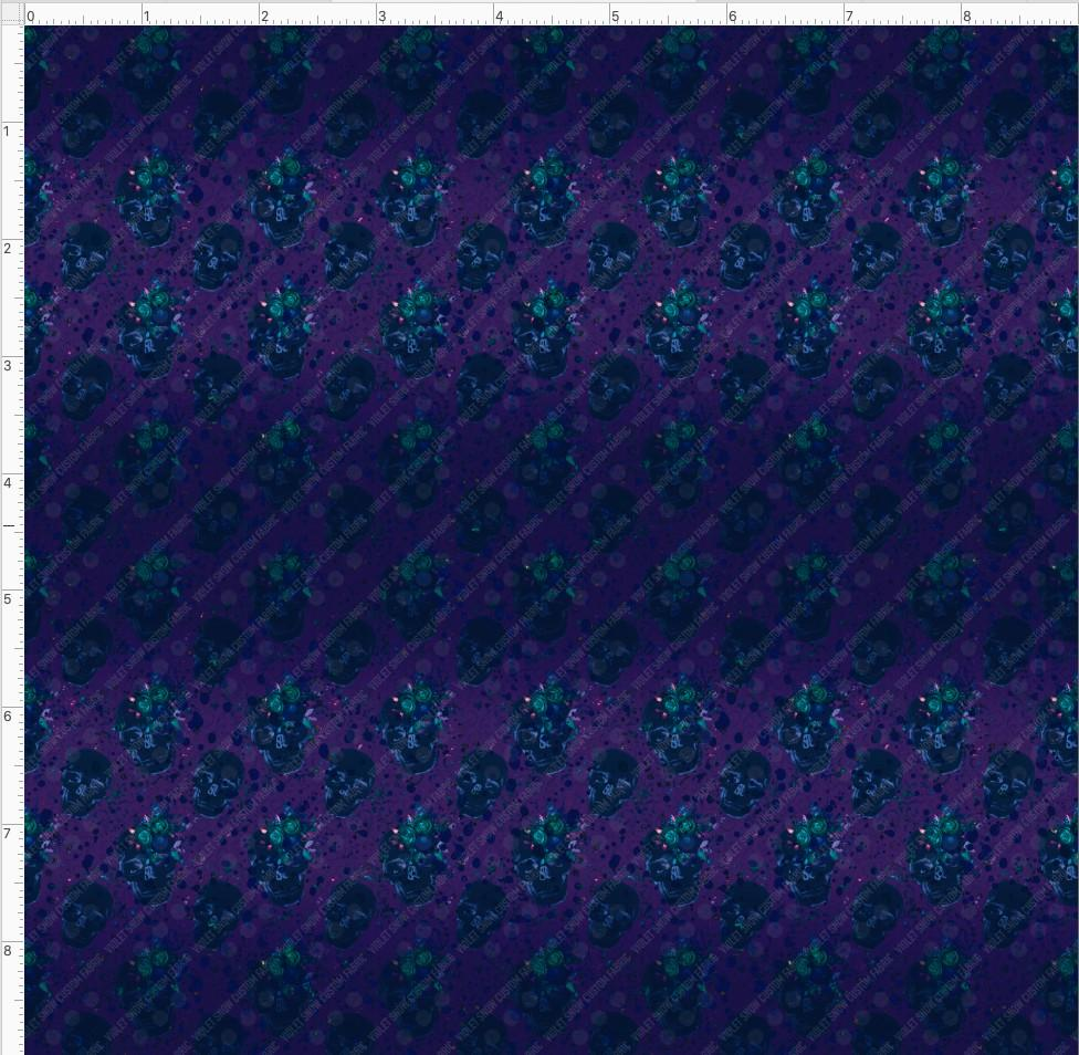violet-snow-custom-fabric,Retail- Electric Skulls Coordinate,Violet Snow Custom Fabric,Retail Yard.