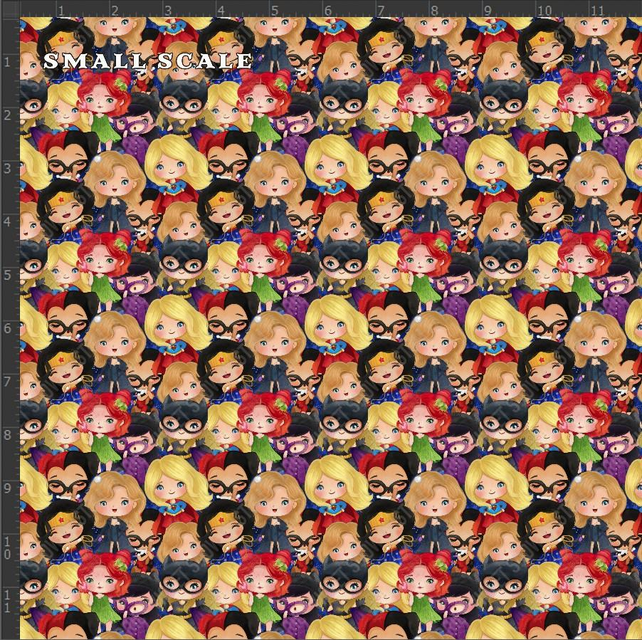 Retail - Girl Power Stacked Retail Yard Violet Snow Custom Fabric