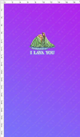 Retail - I Lava You Retail Panel Violet Snow Custom Fabric Cotton Lycra 180 GSM Small Purple
