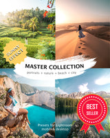 MASTER COLLECTION (portraits + nature + beach + city) desktop & mobile