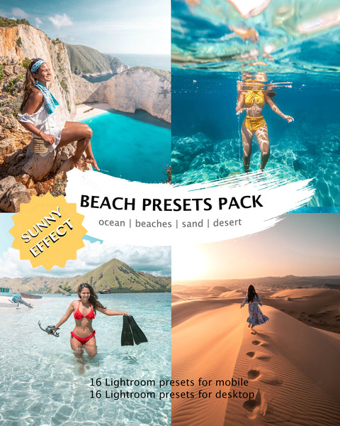 BEACH PRESETS (+ sunny effect) desktop & mobile