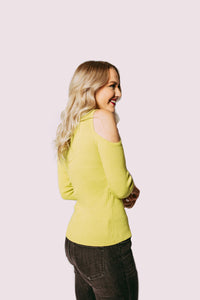 Neon Lights Open Shoulder Top
