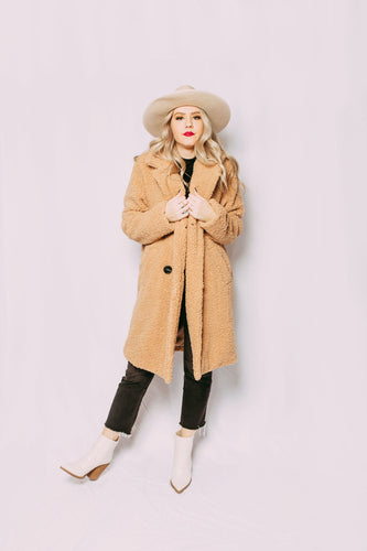 Billie Faux Teddy Maxi Coat