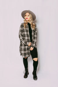 Qween Long Line Flannel