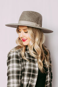 Harley Wide Brim in Grey