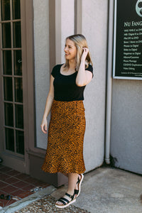 Cool Girl Cheetah Skirt