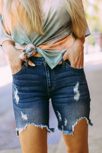 KanKan Distressed Bermuda Shorts