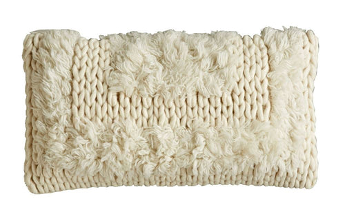 natural knit pillow