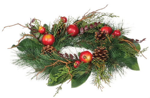 small pomegranate & pine wreath