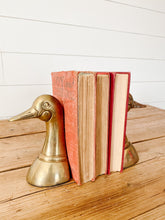 Load image into Gallery viewer, brass duck bookends