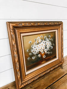 hand-painted daisy painting