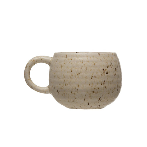 beige speckled mug