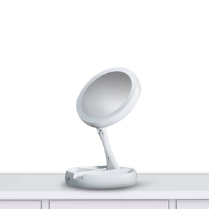 Fold Away LED Light Up Mirror
