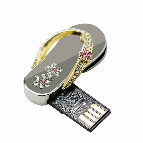 Crystal Diamond Metal slipper USB Flash Drive