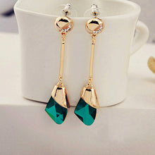 Elegant Geometric Crystal Earrings