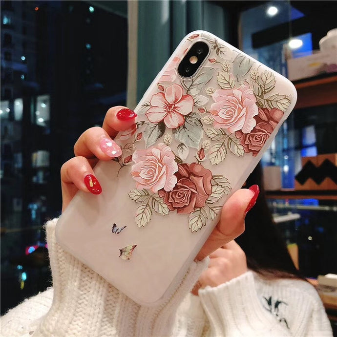 Rose Floral Leaves Cases