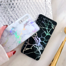 Rainbow Holographic Iridescent Marble Phone Case For Huawei Phones
