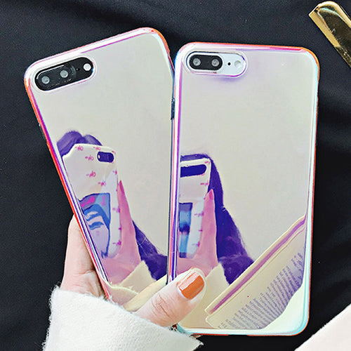 Holographic Glossy Mirror Case for iPhone