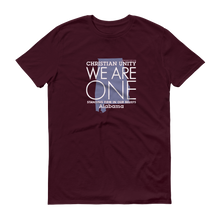 "Load image into Gallery viewer, (MAROON) CHRISTIAN UNITY ""WE ARE ONE"" UNISEX LIGHTWEIGHT T-SHIRT [ALABAMA]"