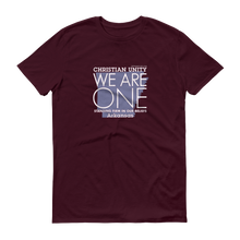 "Load image into Gallery viewer, (MAROON) CHRISTIAN UNITY ""WE ARE ONE"" UNISEX LIGHTWEIGHT T-SHIRT [ARKANSAS]"
